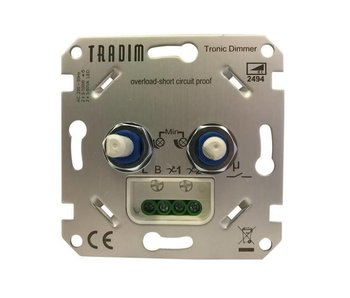 Tradim 2494-K-EXOP LED Double Dimmer 2x 3-100 Watt