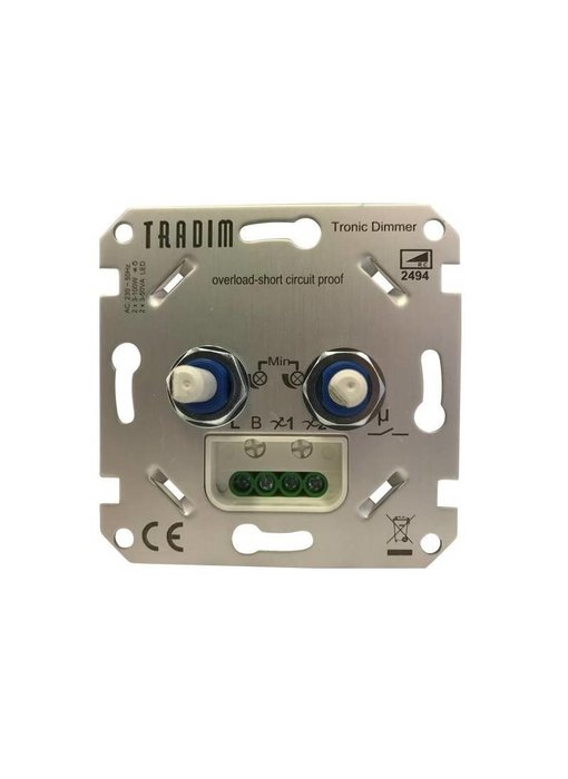Tradim 2494-K-EXOP LED Duo Dimmer 2x 3-100 Watt