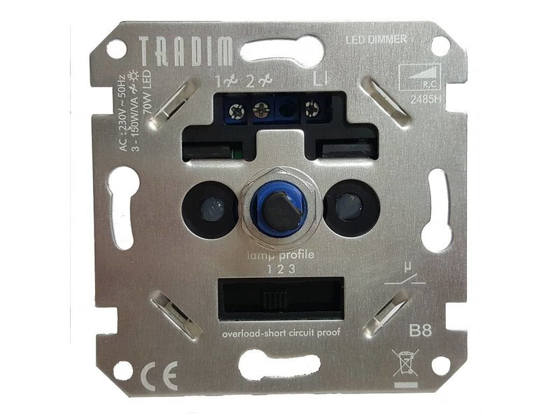 Tradim 2485HEXOP LED dimmer 3-70 Watt réglable