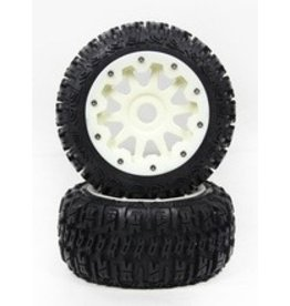 Rovan Rear Knobby tire set complete Nylon (3rd gen) 5B
