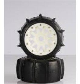 Rovan 5T/5SC Sand tyres rear with nylon hubs (10 spoke rims) - 2pcs.
