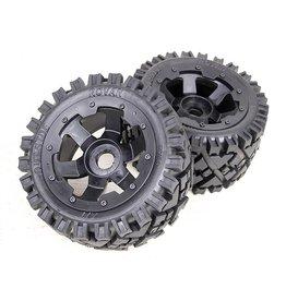 Rovan 5B Rear terrain tyres set (2pcs.) / AIT Outside 170x80 (2pcs.)