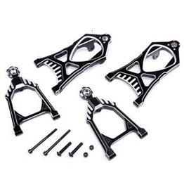 Rovan CNC Black/white front suspension arm set
