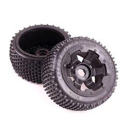 Rovan Small paddle tire set (5B) Dirt Buster 170x 60 2pcs (met en zonder velg)