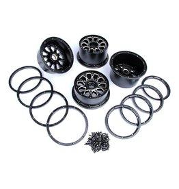 Rovan Alloy wheels black/white 4pcs.