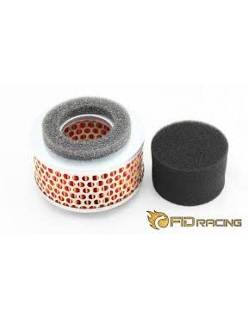 FIDRacing Losi 5ive T Alloy air filter Red collar
