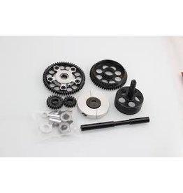 GTBRacing 2 speed gear system (gear ratio 16T:58T 21T:53T)