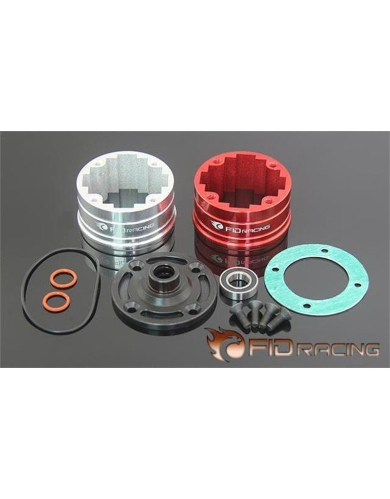 FIDRacing Five T Differntial gear box with bearing compatible front, middle and rear