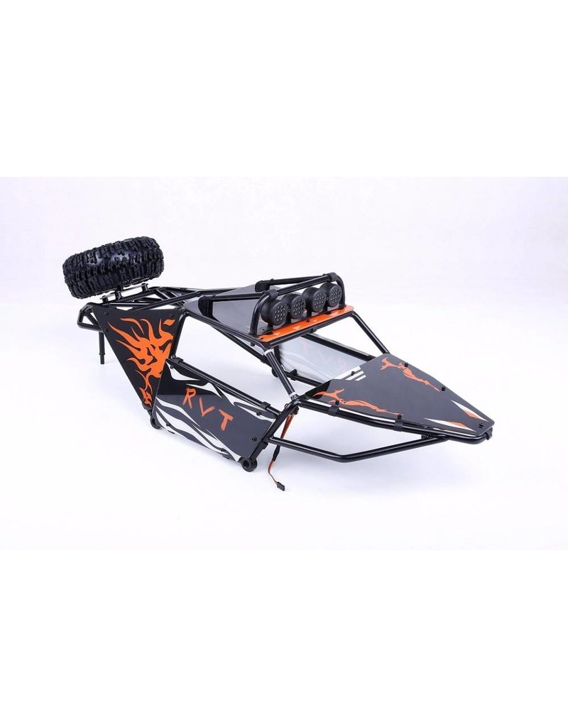 Rovan Metal roll cage with shell and top Led lights for 5T/5SC Truck