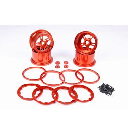 Rovan CNC Alloy Wheels hubs sets / aluminium wiel set