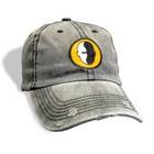 Distressed baseball cap grijs