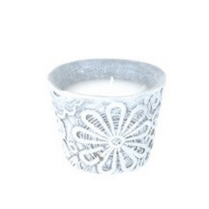Finnmari Candle in lace pot