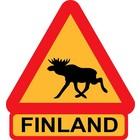 Lappituote Moose Warning Sticker