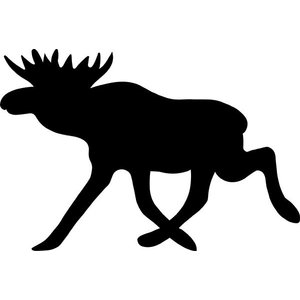 Lappituote Moose Sticker