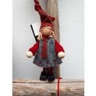 Kerstkabouter meisje (17cm)
