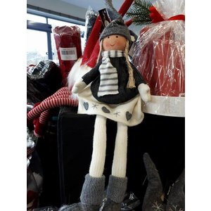 The Christmas Elf Girl (26cm) - Grey