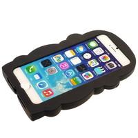 Casimoda iPhone 6/6S siliconen hoesje - Aap zwart