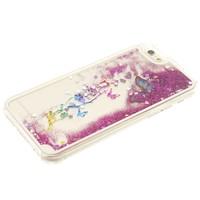 iPhone 6/6S hoesje - Glitters vlinder paars