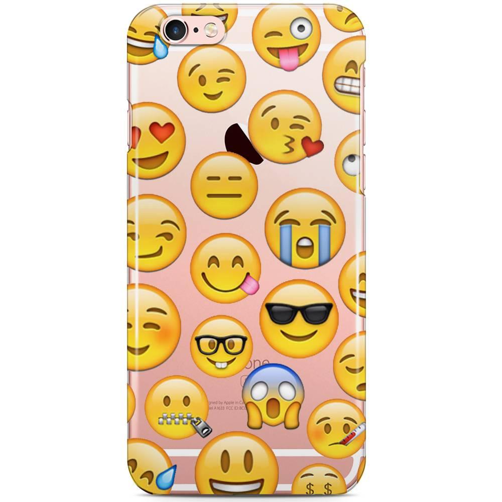 iPhone 6/6S siliconen hoesje - Emoji smileys mix 2 ...