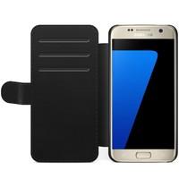 Samsung Galaxy S7 Edge flipcase hoesje - Marmer grijs