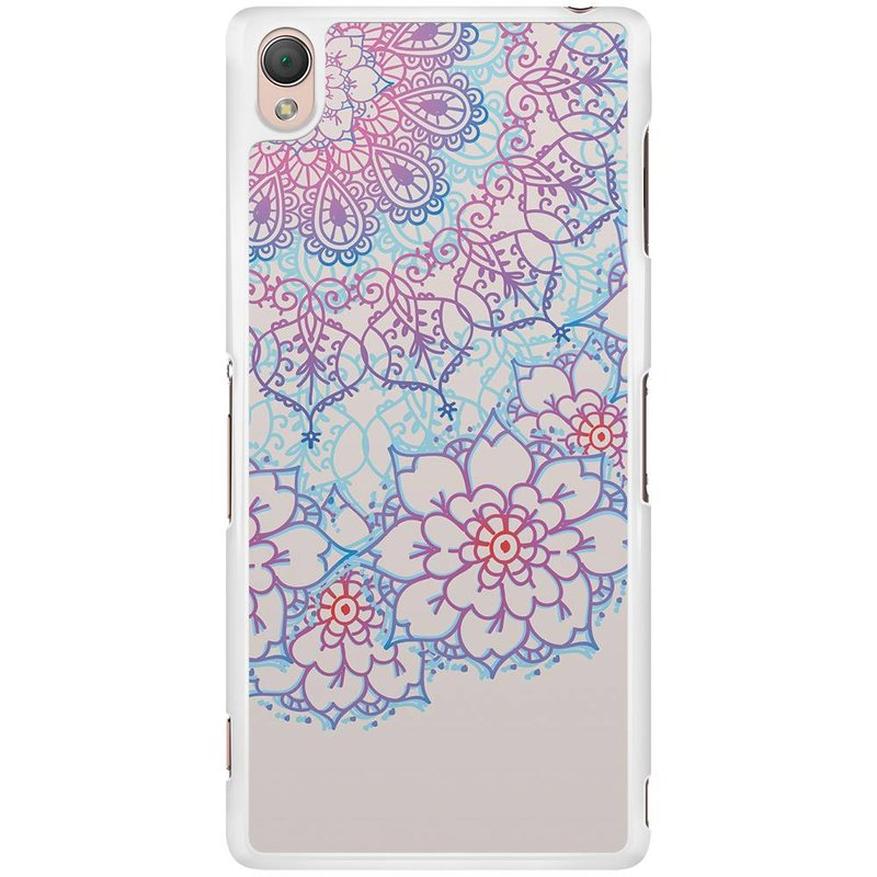 Sony Xperia Z3 hoesje - Red & blue floral