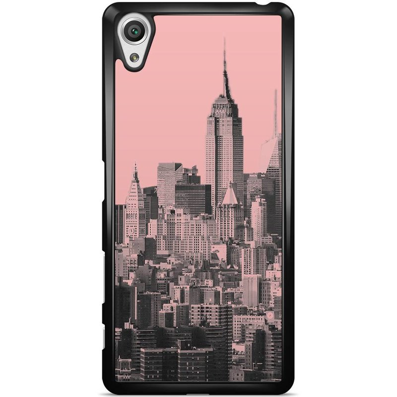 Sony Xperia X hoesje - NYC in pink