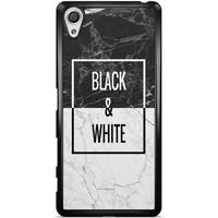 Casimoda Sony Xperia X hoesje - Black & white