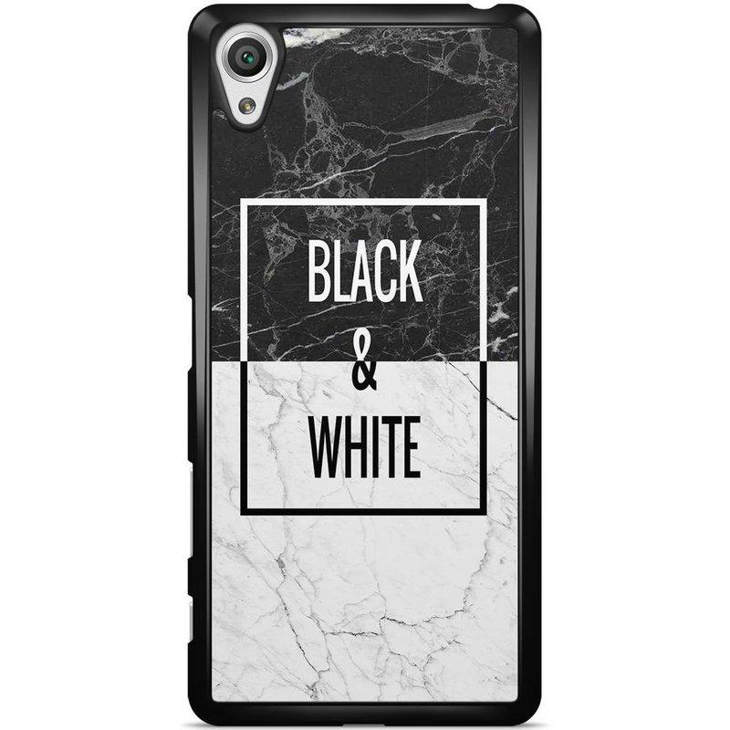Sony Xperia X hoesje - Black & white