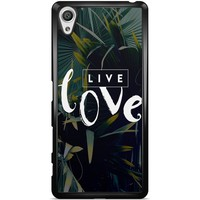Sony Xperia X hoesje - Live love