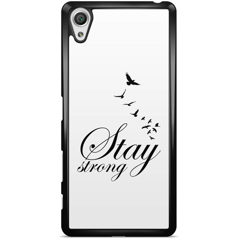 Sony Xperia X hoesje - Stay strong