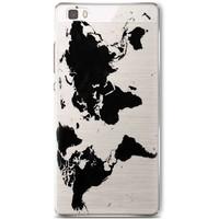 Casimoda Huawei P8 Lite hoesje - Wereldmap