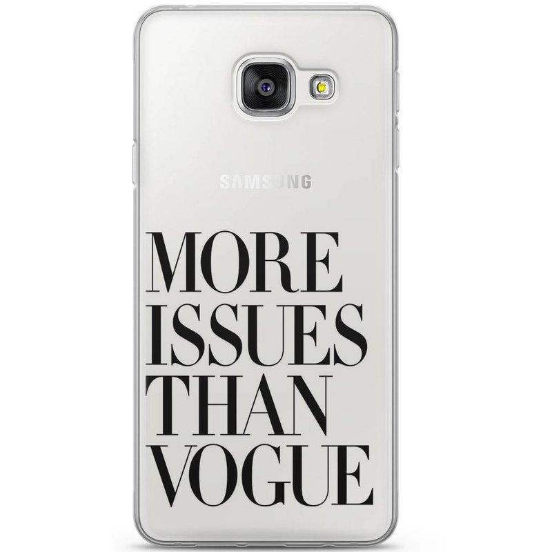 Samsung Galaxy A3 2016 siliconen hoesje - More issues than vogue