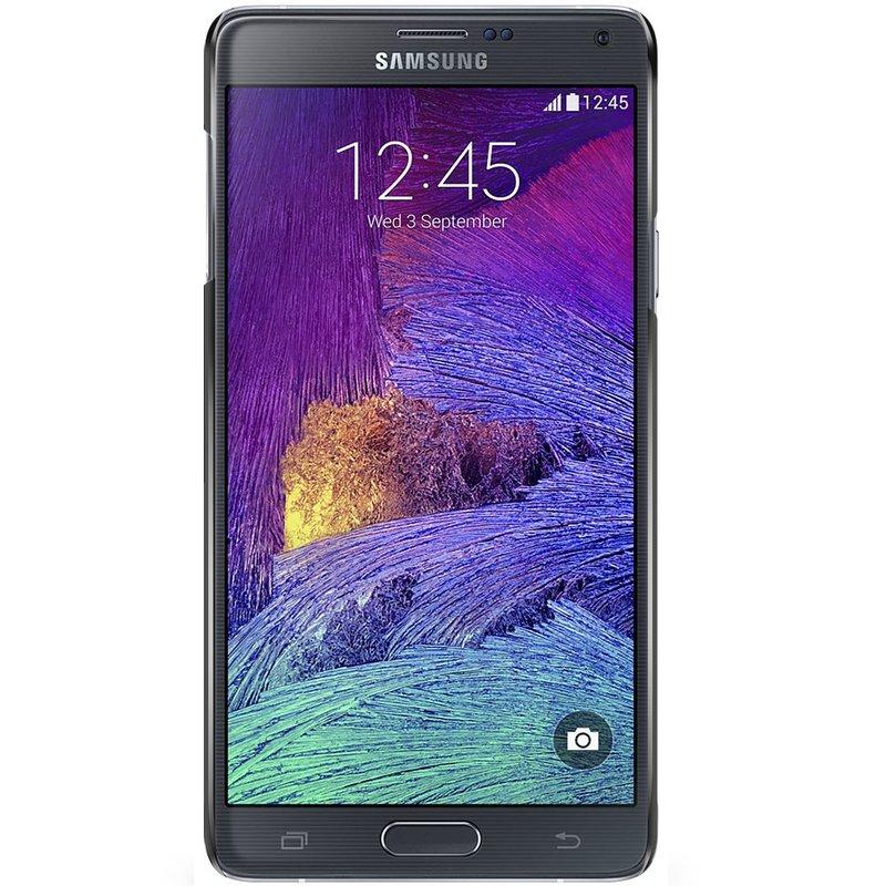 Samsung Galaxy Note 4 hoesje - Marmer zwart