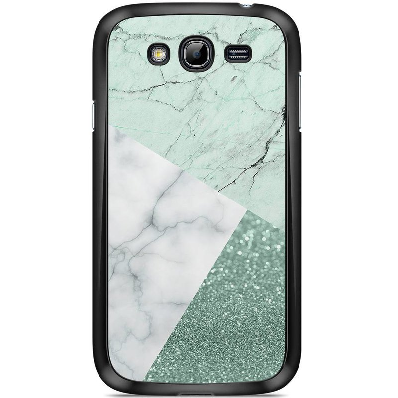 Samsung Galaxy Grand (Neo) hoesje - Minty marmer collage