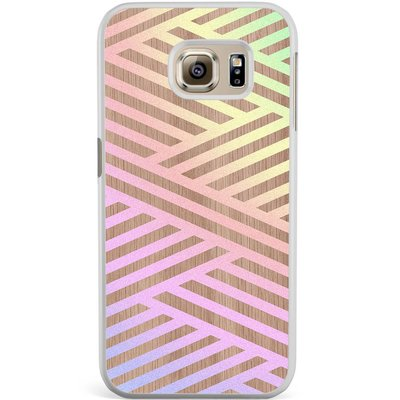 Casimoda Samsung Galaxy S6 Edge hoesje - Holographic wood