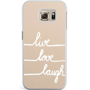Samsung Galaxy S6 Edge hoesje - Live, love, laugh