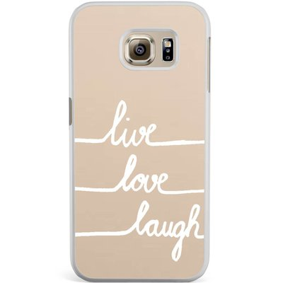 Casimoda Samsung Galaxy S6 Edge hoesje - Live, love, laugh
