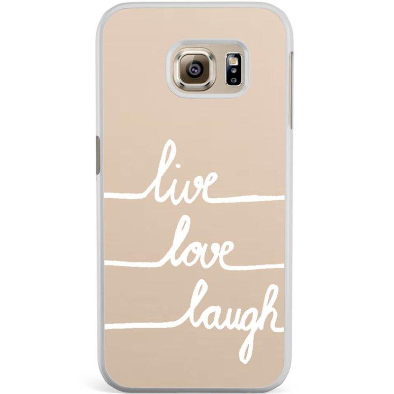 Casimoda Samsung Galaxy S6 Edge hoesje - Live, love, laugh