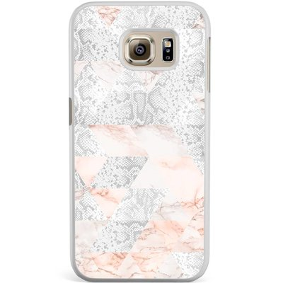 Casimoda Samsung Galaxy S6 Edge hoesje - Snake art
