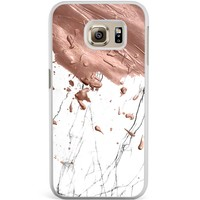 Samsung Galaxy S6 Edge hoesje - Marble splash