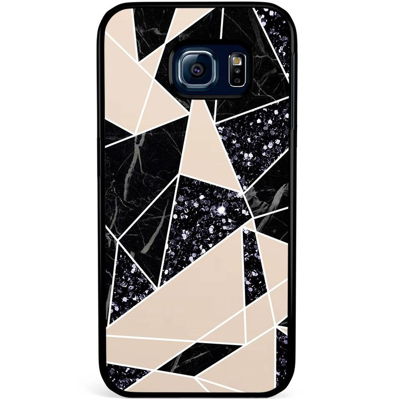 Samsung Galaxy S6 Edge hoesje - Abstract painted