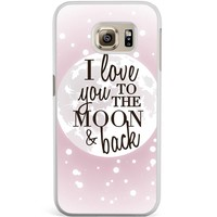 Samsung Galaxy S6 Edge hoesje - I love you to the moon and back
