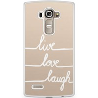 Casimoda LG G4 hoesje - Live, love, laugh