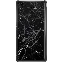 Sony Xperia M4 Aqua hoesje - Marmer zwart