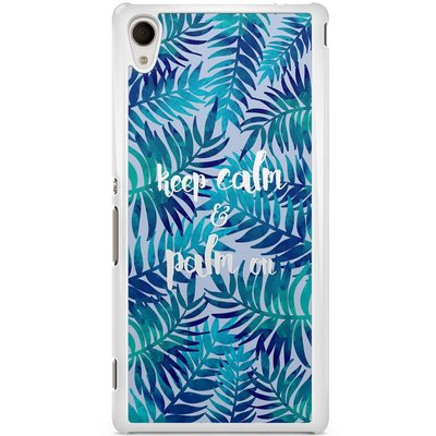 Sony Xperia M4 Aqua hoesje - Keep calm and palm on