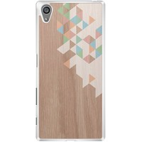 Sony Xperia Z5 hoesje - Geo blocks on wood