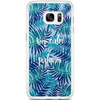 Casimoda Samsung Galaxy S7 Edge hoesje - Keep calm and palm on