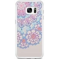 Casimoda Samsung Galaxy S7 Edge hoesje - Red & blue floral