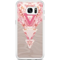 Casimoda Samsung Galaxy S7 Edge hoesje - Floral wood