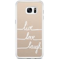 Samsung Galaxy S7 Edge hoesje - Live, love, laugh